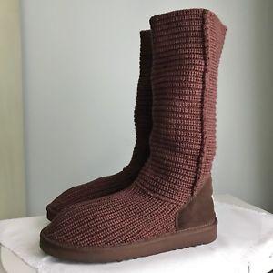 NEW! Crochet UGG Classic Tall Boots Size 10 Mink Brown NIB  | eBay