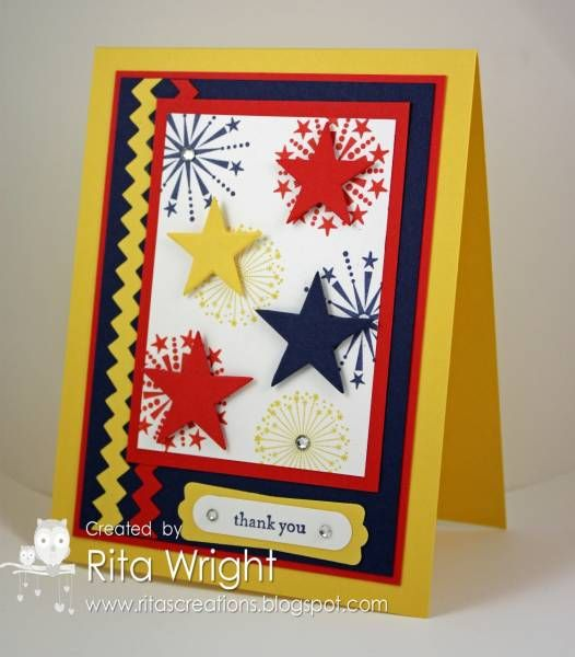FM58: Remembrance by kyann22 - Cards and Paper Crafts at Splitcoaststampers: Scrapbook Cards, Cards Ideas, Guys Cards, Cards Stars, Patriots Stars, Cards Stampin, July Cards, Paper Crafts, Stars Cards