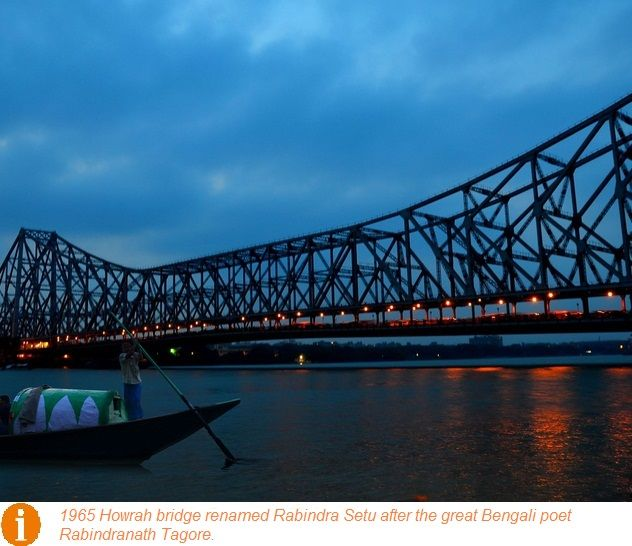 #Kolkataarchitecture: Howrah Bridge is the 6th longest cantilever bridge in the World. Completed in 1943, the bridge connects Kolkata, India with its twin city Howrah across river Hooghly.