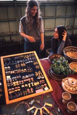 Craft vendors in Pike Place Market, circa 1975