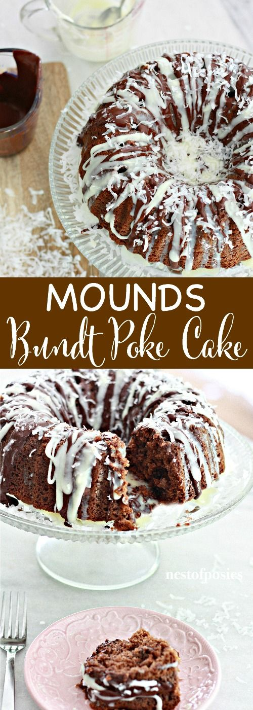 Mounds Bundt Poke Cake
