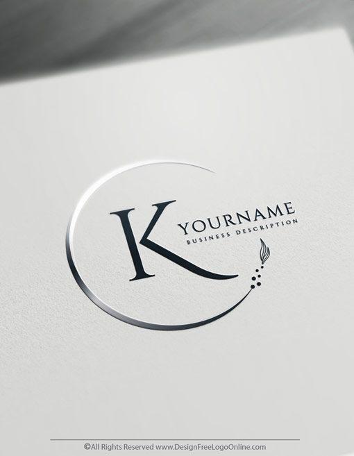 Online Free Letter Logo Maker Minimalistischer Alphabet