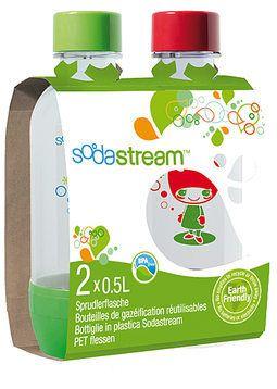 Sodastream, Täyttöpullo 2 kpl 0,5ltai litrasiakin saa olla.