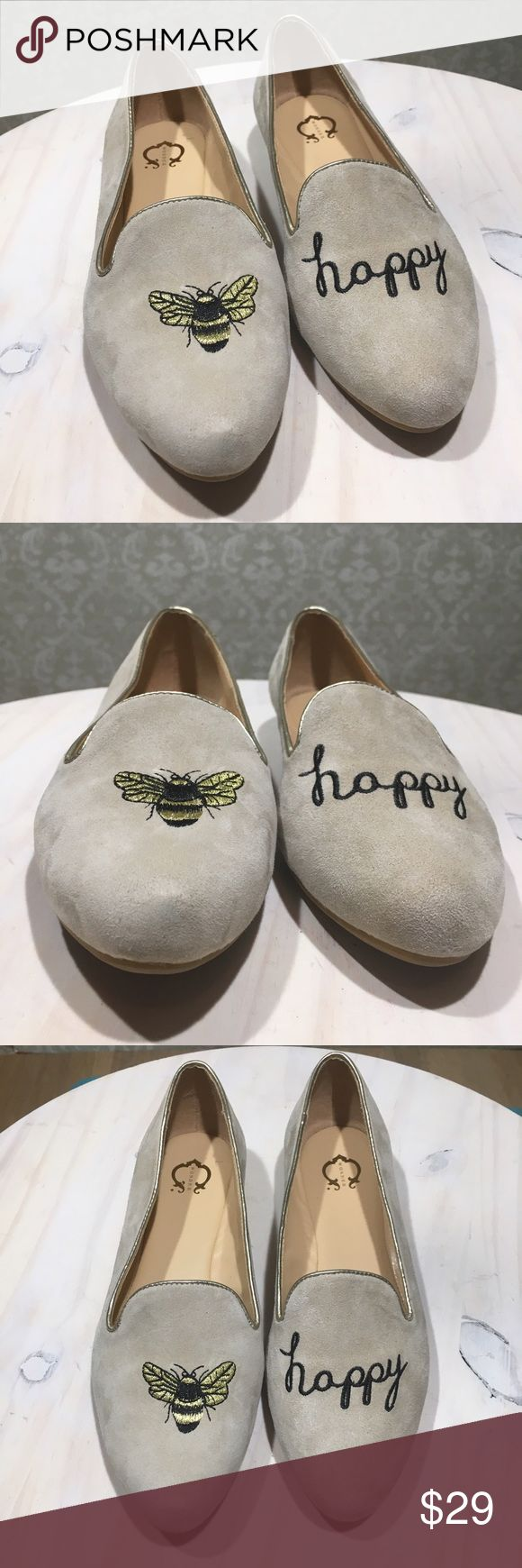 "C WONDER Bee Happy Embroidered Suede Loafers 6W C. WONDER - Celeste  6W Wide ""Bee Happy""  Embroidered  Leather Suede Upper Loafers  Tan  Slip On  Overall construction in good condition. Minor discoloration throughout. See all photos. Nothing extremely noticeable. c. wonder Shoes Flats & Loafers"