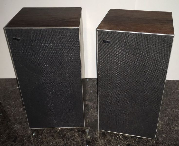 Vintage Bang & Olufsen B&O Beovox 1702 Bookshelf Speakers Type 6252 Working #BangOlufsen