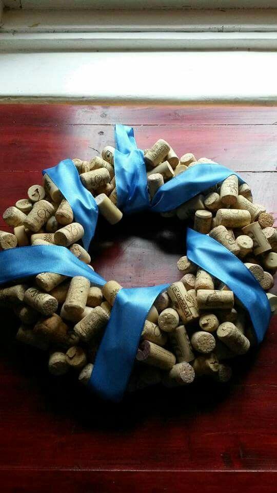 Wreath from cork