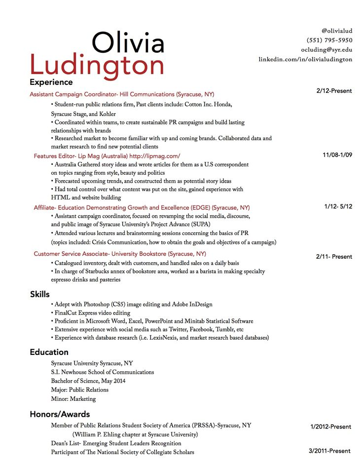 7 best resume design images on Pinterest Creative ideas - barista resume sample