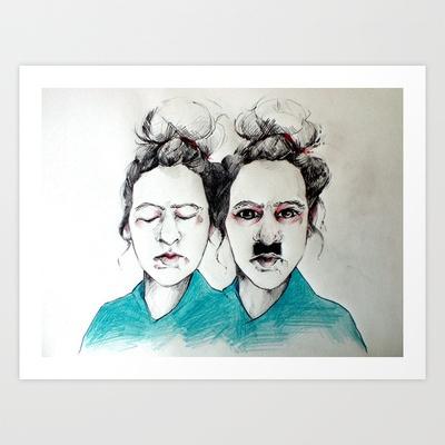 Inner Dictator. Art Print by Crisis - $18.00