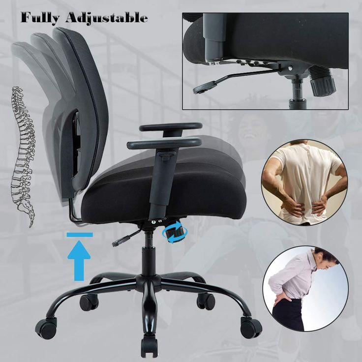 Big and tall office chair 400lbs cheap desk chair mesh