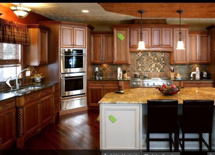 64 best double ovens images on pinterest renovated for Kitchen designs microwave