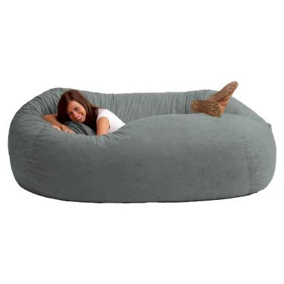 FUF 7 ft. XXL Comfort Suede Bean Bag Sofa - Bean Bags at Hayneedle