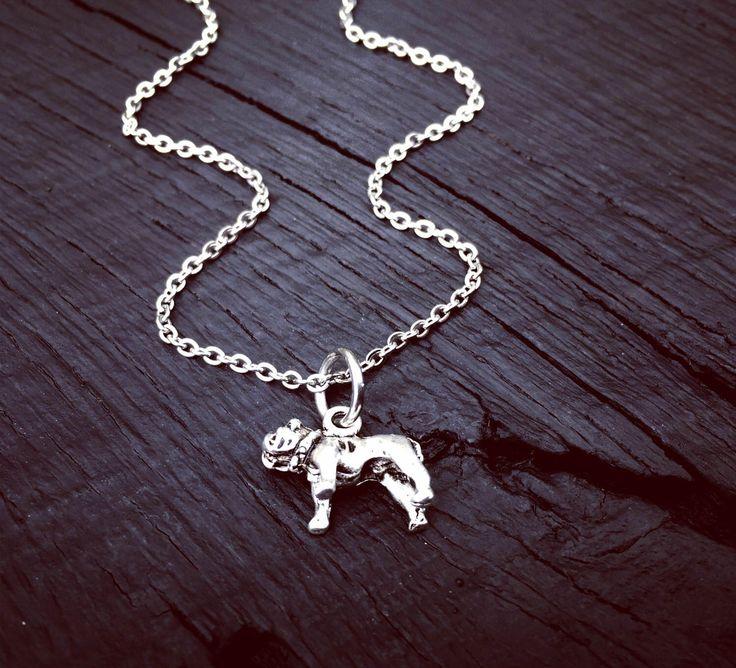 Bulldog Charm Necklace | Bulldog Jewelry | Jewelry Gift For Bulldog Lover | Bulldog Rescue | Bulldog Foster Mom Gift | Transport & Adoption by SecretHillStudio on Etsy https://www.etsy.com/listing/518265561/bulldog-charm-necklace-bulldog-jewelry