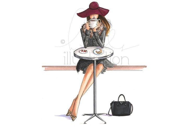 Image issue du site Web http://www.farbensammler.de/wp-content/uploads/2015/08/holly-nichols-fashion-illustration.jpg