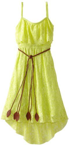 Yellow Dress - Pin It :-) Follow Us :-))  azDresses.com  is your  Dresses Product Gallery.  CLICK IMAGE TWICE for Pricing and Info :) SEE A LARGER SELECTION of yellow dresses at http://azdresses.com/category/dress-categories/dresses-by-color/yellow-dress/ - Rare Editions Girls 7-16 Lace Hi-Low Dress, Yellow, 7 « AZdresses.com