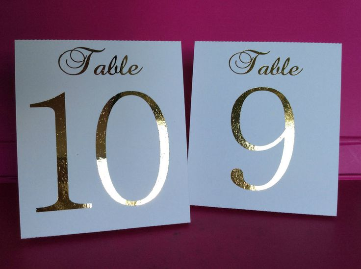 White+Table+Number+Tent+Style+Wedding+Birthday+Table+Decor+Gold+Foil