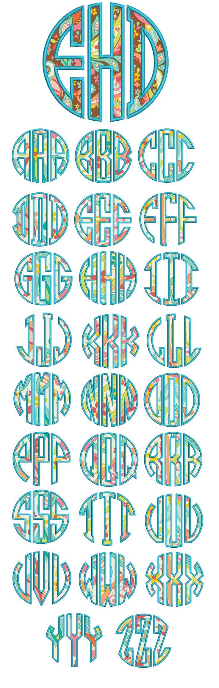 Circle Applique Monogram