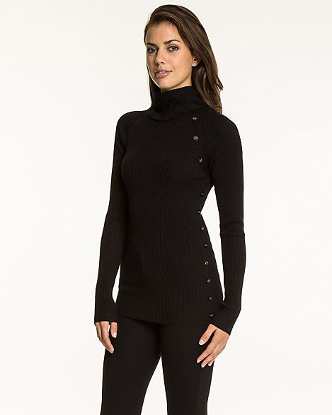 Viscose Blend Turtleneck Sweater