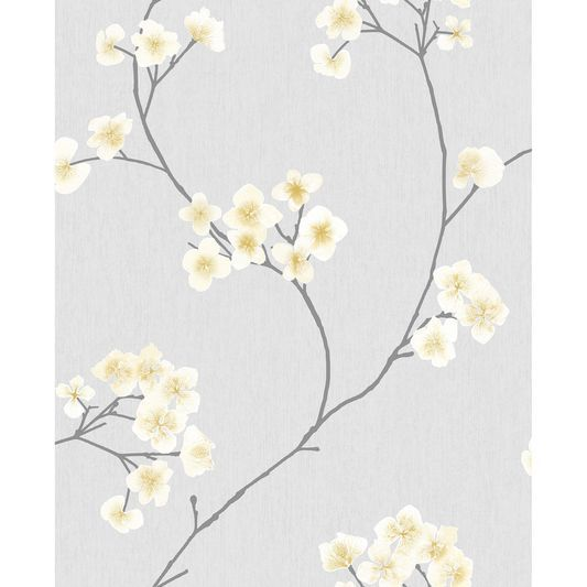 Radiance Grey And Ochre Wallpaper Large