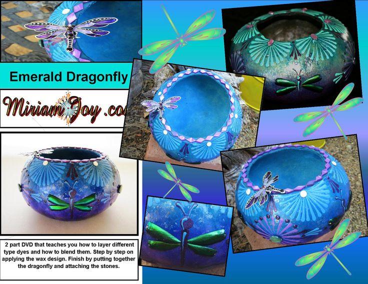 Emerald Dragonfly Gourd ~ Class DVD