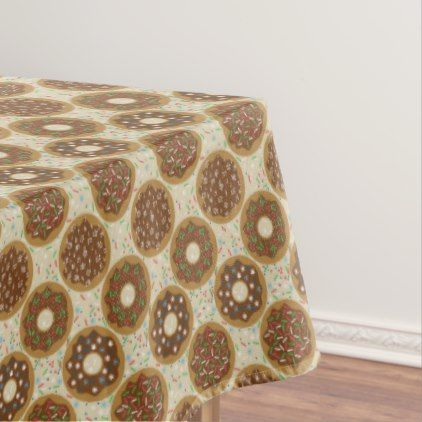 Box of Christmas Donuts Music Sprinkles Food Art Tablecloth - decor gifts diy home & living cyo giftidea