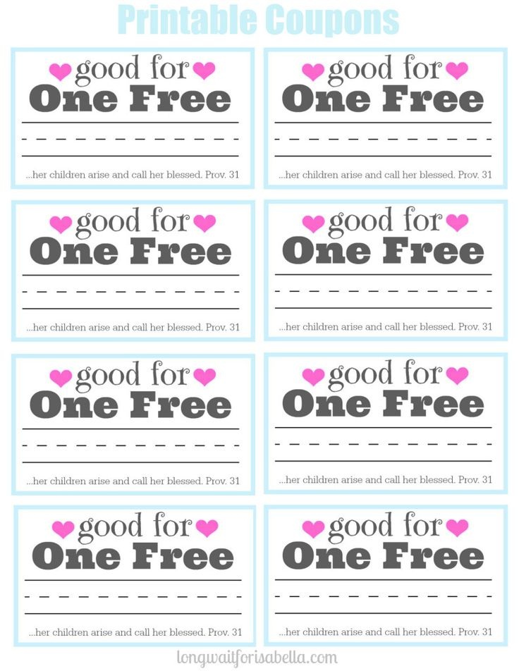 printable coupon book for mom mom printable coupons and mothers day ideas. Black Bedroom Furniture Sets. Home Design Ideas
