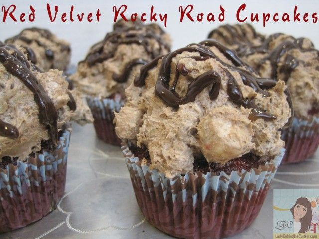 Red Velvet Rocky Road CupcakesCupcakes Projects, Cupcakes Oh, Cake Cupcakes, Roads Cupcakes, Cravings Cupcakes, Red Velvet, Rocky Roads, Velvet Rocky, Creative Cupcakes
