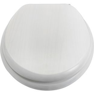 Buy Solid Wood Slow Close Toilet Seat - White Washed Finish at Argos.co.uk - Your Online Shop for Toilet seats.