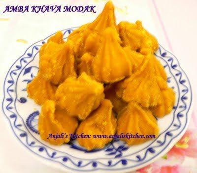 Anjali's Kitchen: AMBA MODAK (Mango Modak)