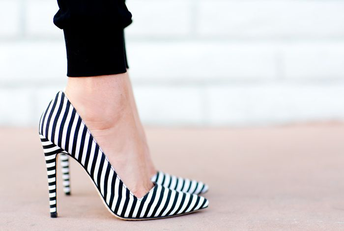 JOIE PANTS AND ALICE + OLIVIA STRIPED SHOE DREAMS - a house in the hills