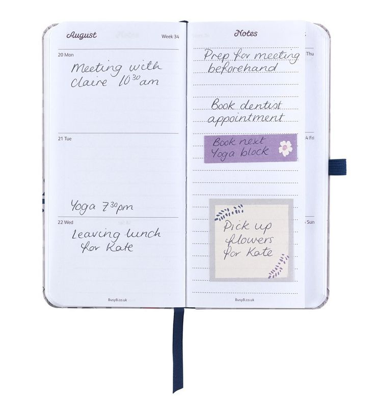 Forever scribbling stuff on easy-to-lose scraps of paper? This super smart handbag-sized diary will help. It features a handy notes page within each week, so now you can keep your scribbles all in one place and ready to read. Bravo!