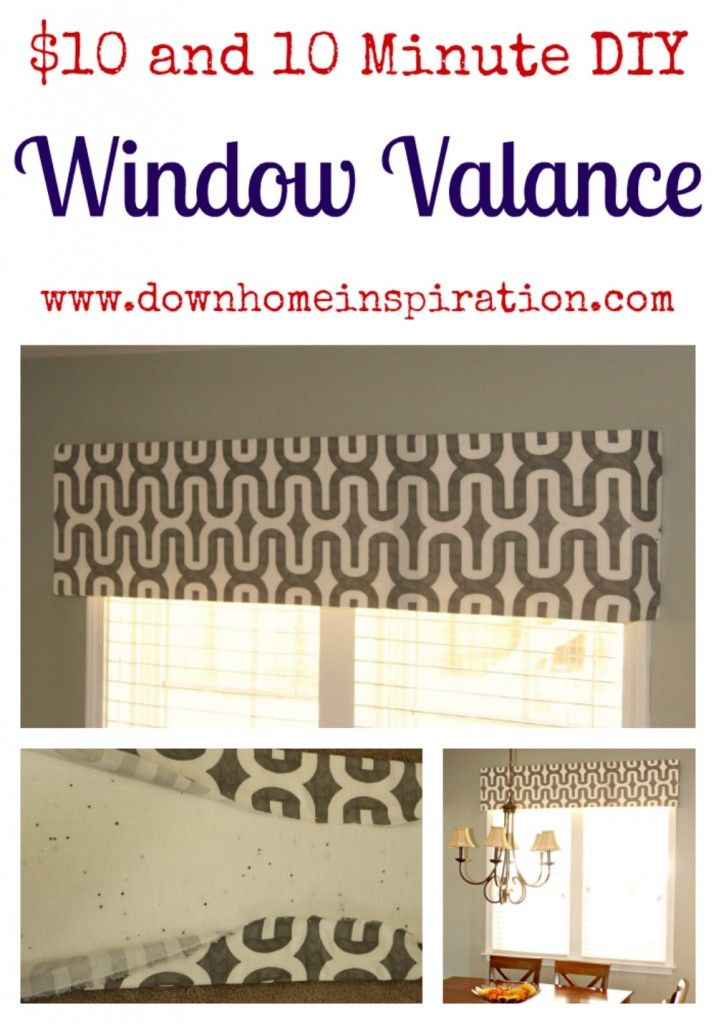 $10 and 10 Minute DIY Window Valance - Down Home Inspiration