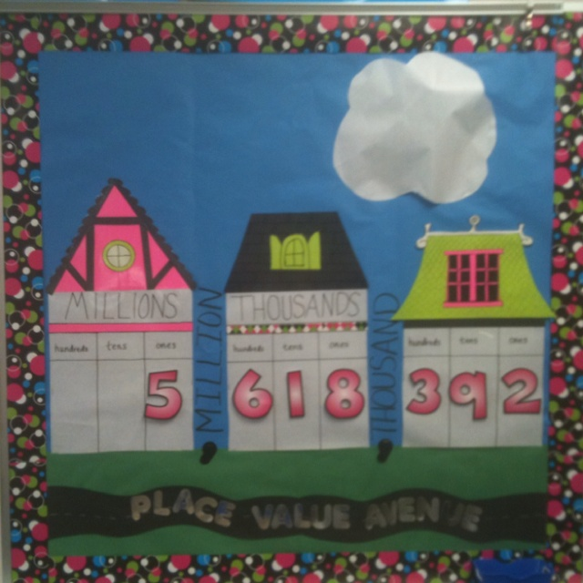 This Is My Place Value Display From This Year With Some