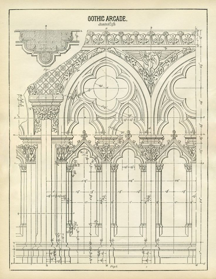 how to draw a gothic arch