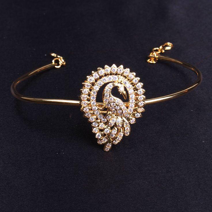 Vanki Peacock design with CZ stones -WJ0456v Bridal Jewellery  Vanki