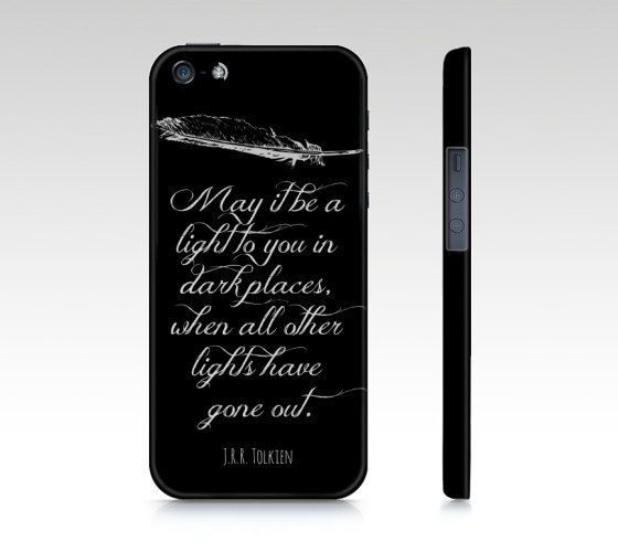 Lord of the Rings Quote Premium Case  Black  by NeverMorePrints, $40.00