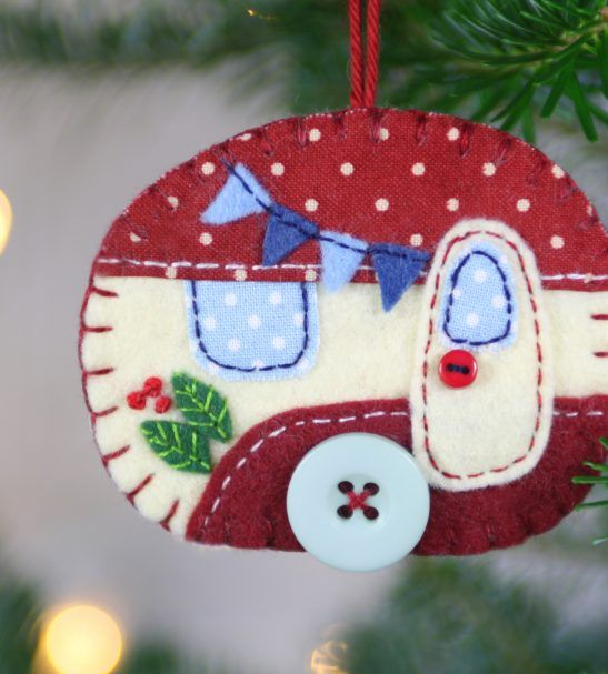 Felt Christmas ornament, Vintage Caravan decoration – Folt Bolt Shop