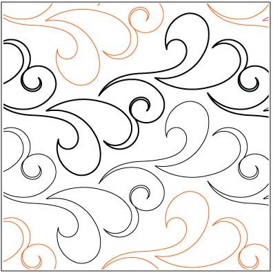 Love This : ON SPECIAL...Nouveau Feathers quilting pantograph pattern by Lorien Quilting