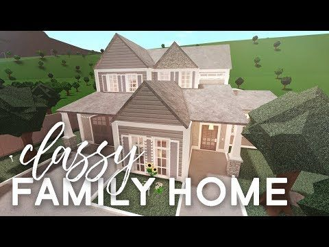 Classy Family Home Bloxburg Build Alixia Youtube In 2020 Two Story House Design Family House Plans Modern House Floor Plans