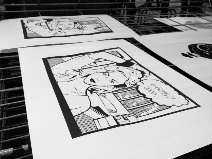 Pop-Art screen printing