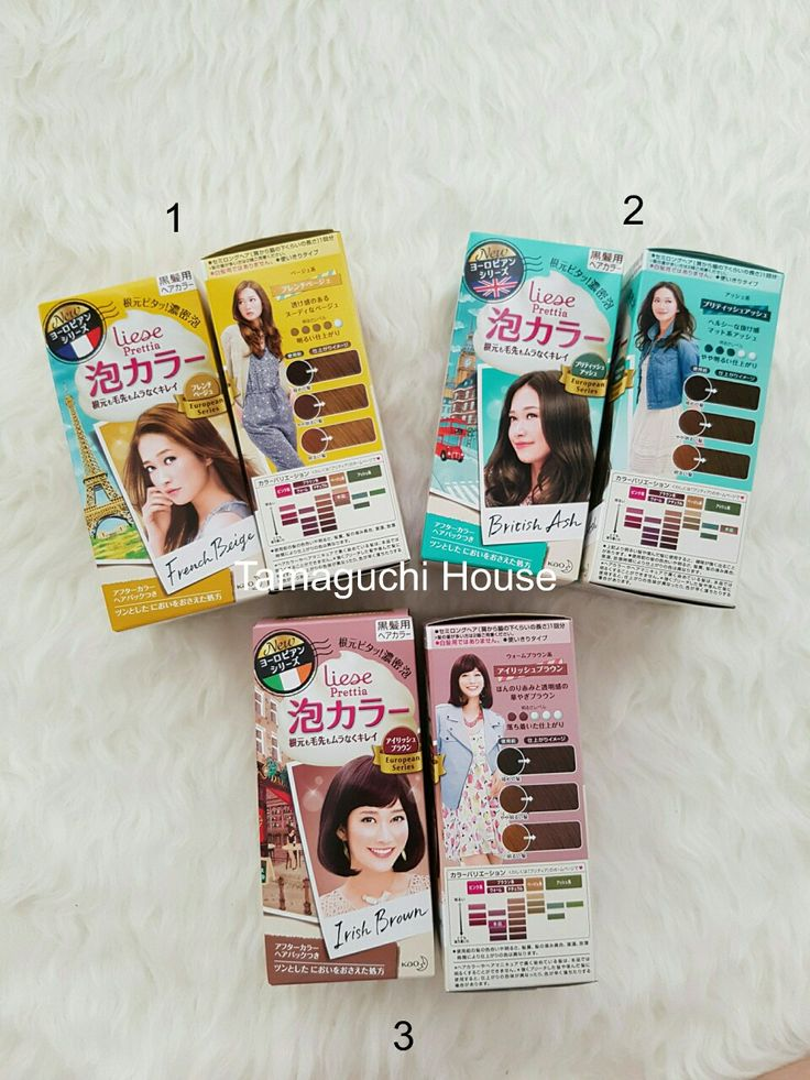 Cat Rambut Liese Prettia Creamy Bubble Hair Color Original Jepang European Series  1.French Beige 2.British Ash 3.Irish Brown  195rb