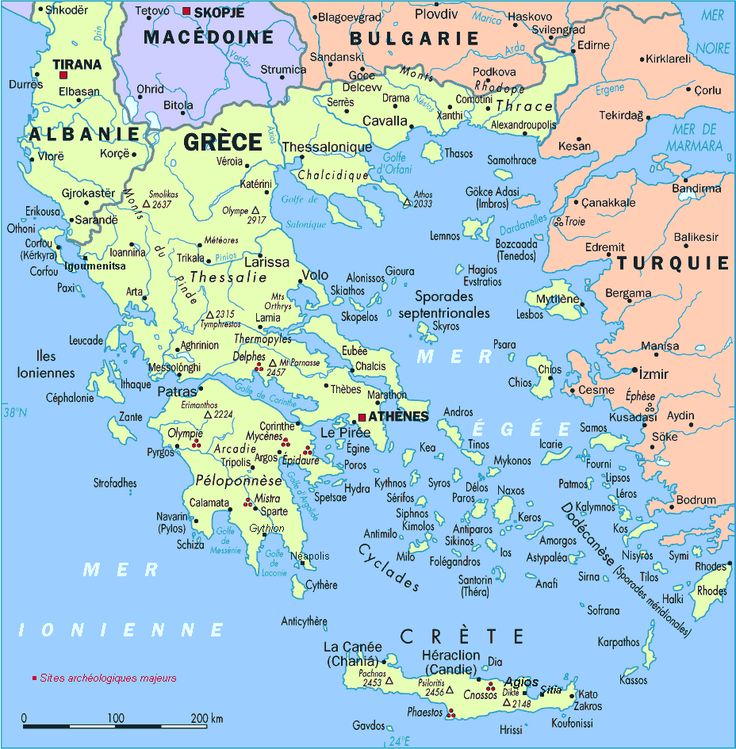 Modern day Thessalonica Map | Grece-Carte.gif