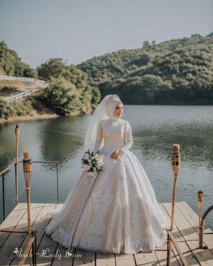 أجمل فساتين الزفاف للمحجبات مجلة المرأة العربية Muslim Wedding Gown Disney Wedding Dresses Muslim Wedding Dresses