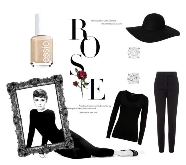 """Classy past"" by pieceofcakehj on Polyvore featuring French Connection, Vielma London, Monki and Essie"