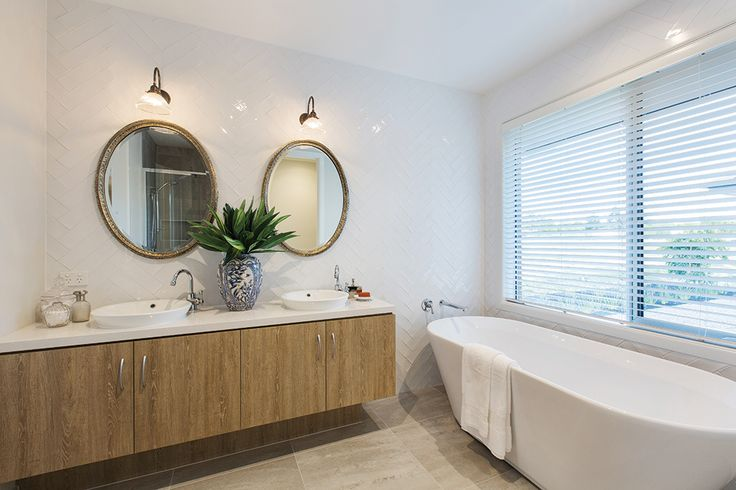 His and hers master ensuite with a Classic Hamptons World of Style.