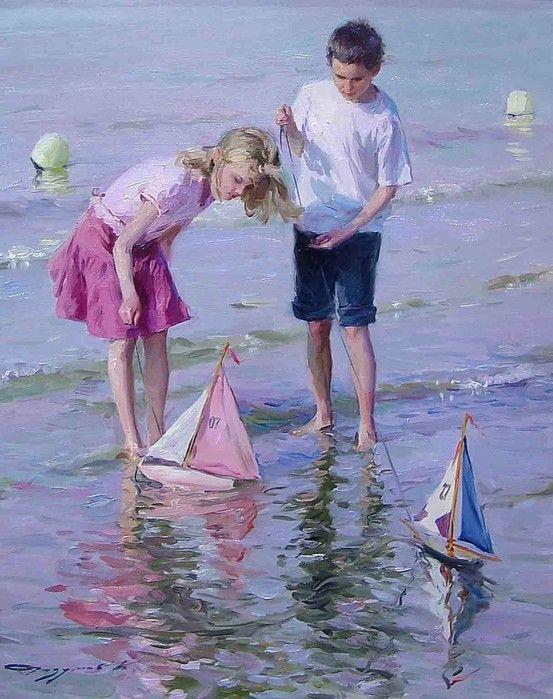 Открытки детки и море