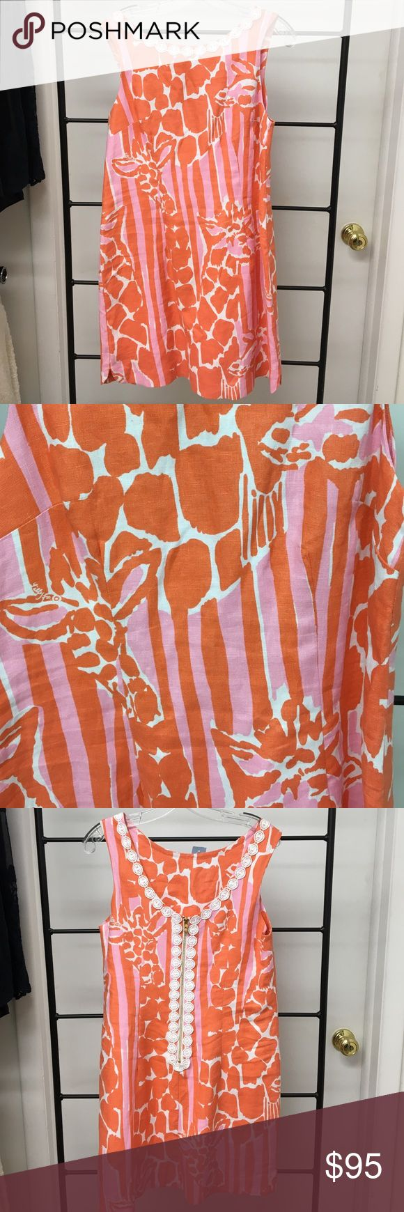 Iilly Pulitzer dress Orange and pink Lilly Pulitzer Dresses