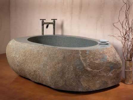 Moderne Badewannen Aus Holz Und Stein