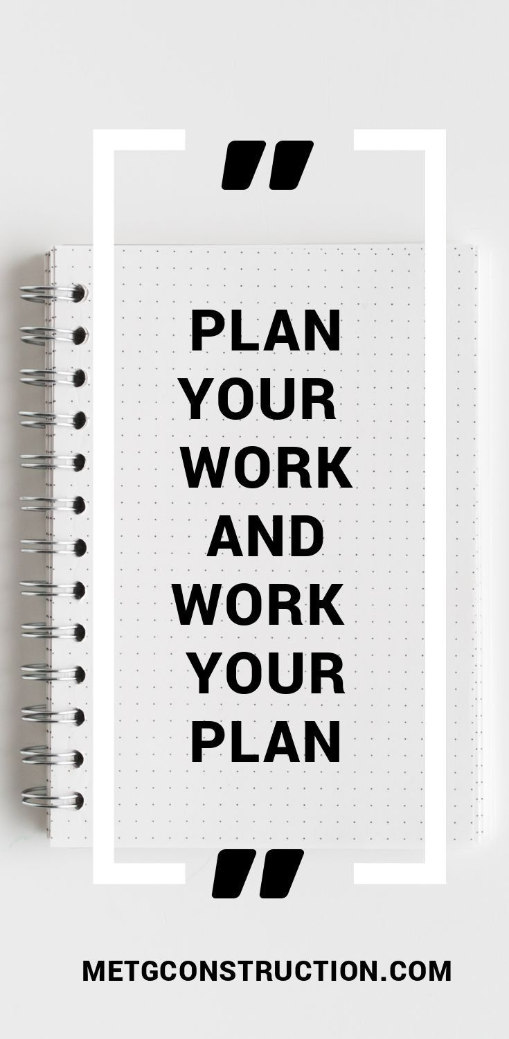 Plan Your Work And Work Your Plan Quote
