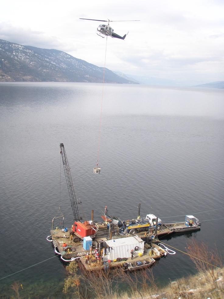 Okanagan Lake marina built by Burton Marine Pile Driving Inc.