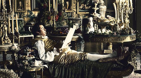 """Mark Gatiss plays the port-loving Prince Regent, who went on to become George IV, was in 1814, when the drama """"Taboo"""" is set, effectively in charge of Britain's empire while his father King George III was indisposed on account of mental illness.  Location used to portray one of his London palaces in the drama was Hatfield House in Hertfordshire."""